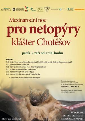 """Pozvánka na """"Mezinárodní noc pro netopýry v klášteře Chotěšov"""" 1"""